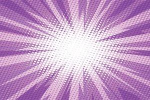 Purple pop art retro background