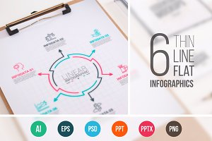 Line flat elements for infographic_9