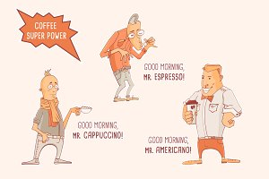 Hipster Coffee Trio