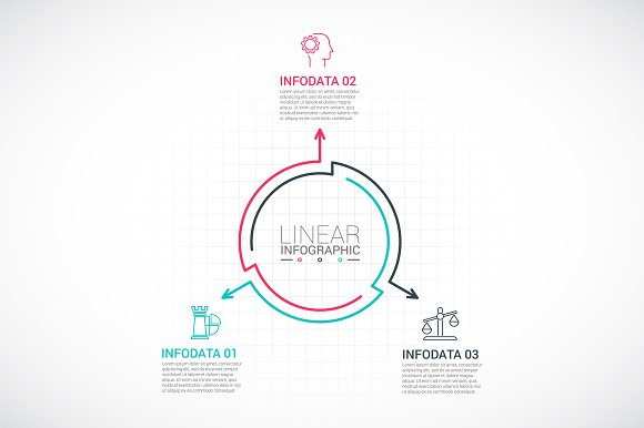 Line flat elements for infographic_9 in PowerPoint Templates - product preview 3
