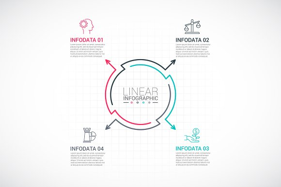 Line flat elements for infographic_9 in PowerPoint Templates - product preview 4