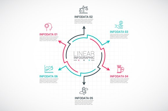 Line flat elements for infographic_9 in PowerPoint Templates - product preview 6