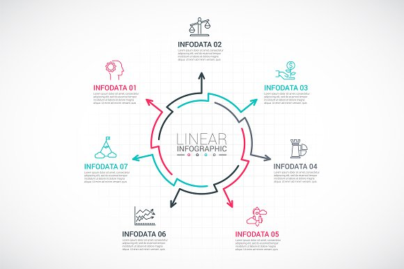 Line flat elements for infographic_9 in PowerPoint Templates - product preview 7