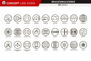 Concept line icons - physics
