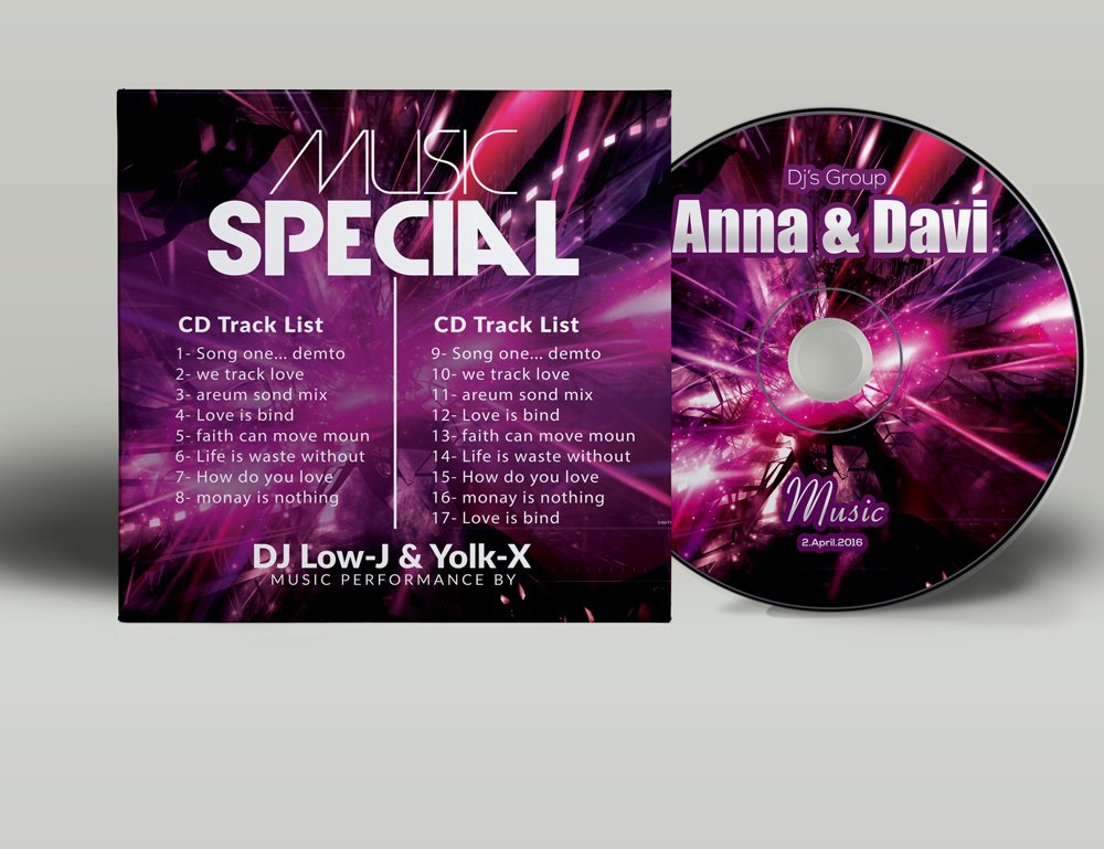 Music CD Cover Psd Template ~ Stationery Templates ...