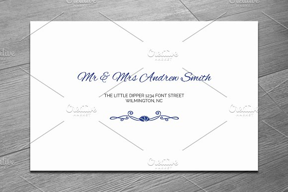 Wedding Envelope Template Invitation Templates Creative Market