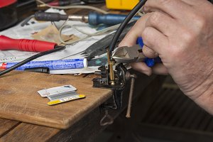 Cutting wire and soldering