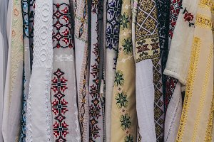 Traditional embroidered clothes
