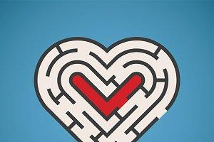 Heart shape maze