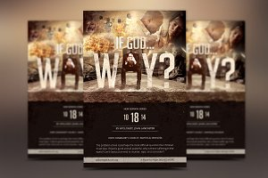 God Question Flyer Poster Template