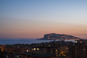 Late evening view of Alanya