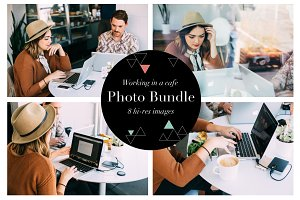 Working In A Cafe Photo Bundle