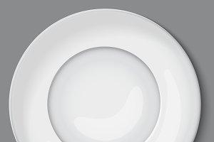 empty white plate.