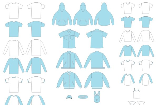 44 Vector Clothing Templates