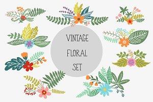Vintage Floral Set