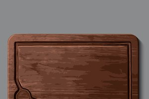 Realistic wooden cutting board