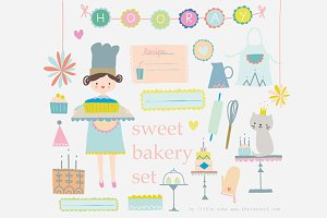 Bakery set Clip Art