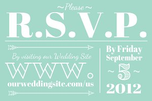 Wedding RSVP (Web or Mail)