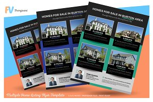 Multiple Home Listing Flyer Template