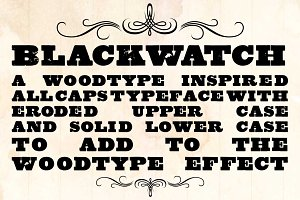 Blackwatch Woodblock Font