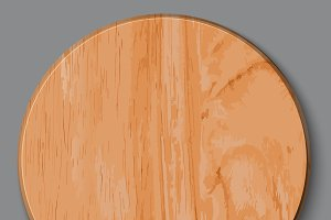 Realistic wooden cutting board,