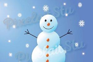 Snowman Vector Clip Art Graphics