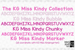 KG Miss Kindy Font Collection