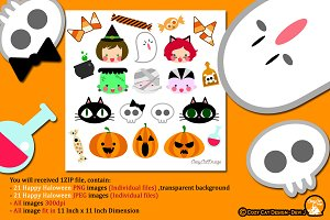 Happy Halloween Digital Clipart