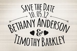 Stamp Style Save The Date