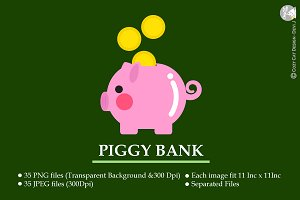 Digital Clipart Piggy Bank