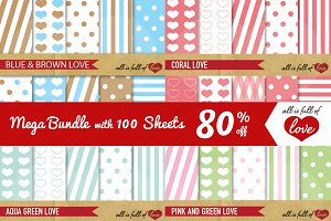 -80% Valentines Day Patterns Bundle