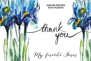 "Irises ""thank you"""