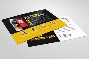 Mobile App Business PostCard