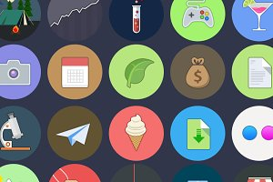 HOMICONS - 134 flat icons [-50%SALE]