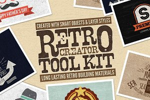 Retro Creator Tool Kit Wood Edition
