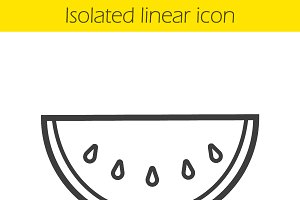 Watermelon linear icon. Vector