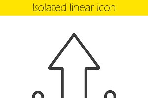 Upload arrow linear icon. Vector