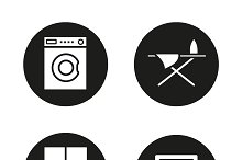 Furniture. 4 icons set. Vector