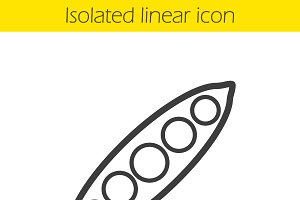 Peapod linear icon. Vector
