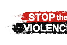 Stop the violence sign. Vector