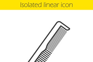 Comb linear icon. Vector