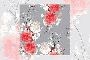 imprints sakura and chrysanthemum