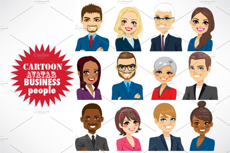 Business Cartoon People Avatar ~ Illustrations ~ Creative Market