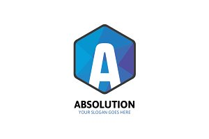Hexagon Absolution Logo - Letter A