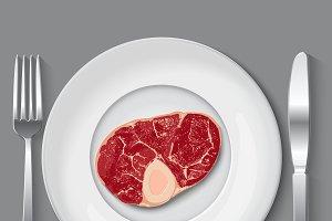 Fresh vector meat