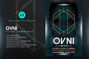 OVNI MINIMAL Flyer Template