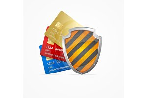 Credit Card Safety Concept. Vector