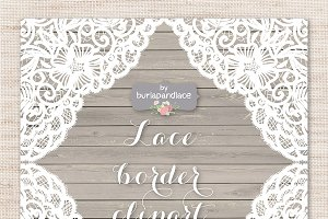 Lace border rustic