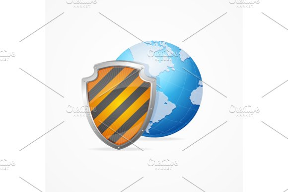 Global Safety Concept. Vector - Illustrations
