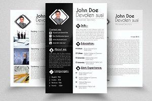 3 Page Resume Portfolio Cover Letter